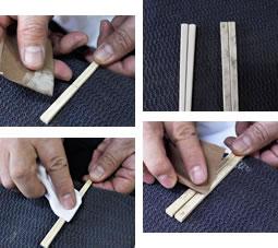竹工房オンセの竹箸のお手入れ方法