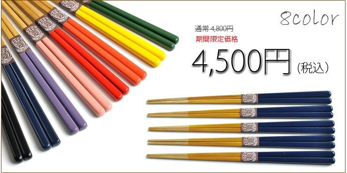 2017箸の日 竹箸色彩1色5膳セット 感謝価格