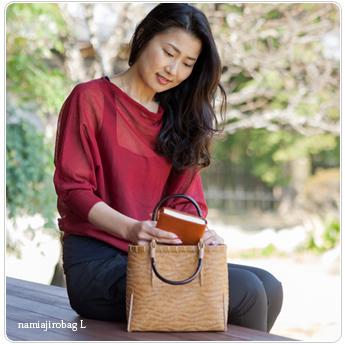 女性向けギフト、竹バッグ、波網代編み
