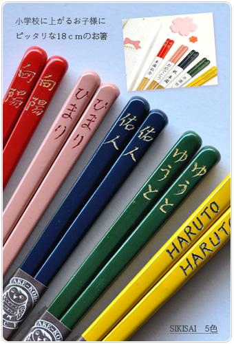 卒園記念品 子供箸色彩 名入れ箸
